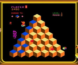 Q*bert Screenshots