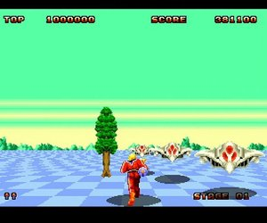 Space Harrier II Screenshots