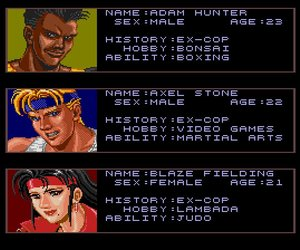 Streets of Rage Screenshots